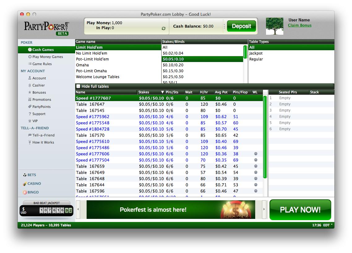 Party poker download mac