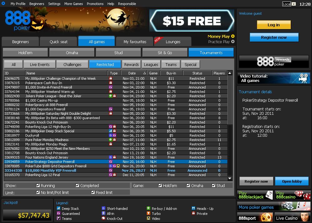 Poker ipad freeroll