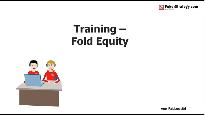 Poker dictionary fold equity