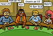 Poker Cartoon - Hard Job