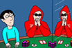 Poker Cartoon - Opposite