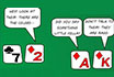 Poker Cartoon - Card talk