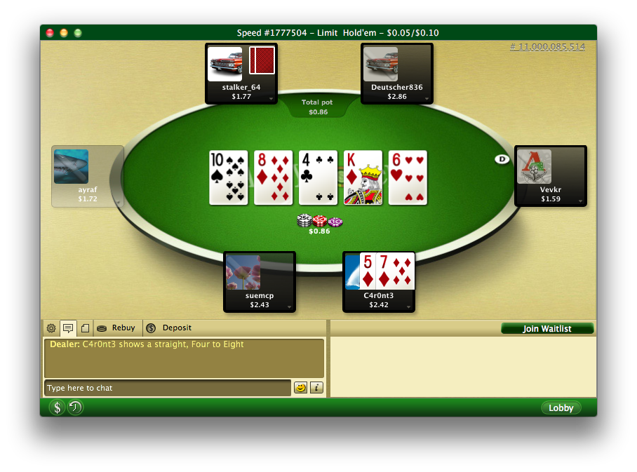 Party poker mac client