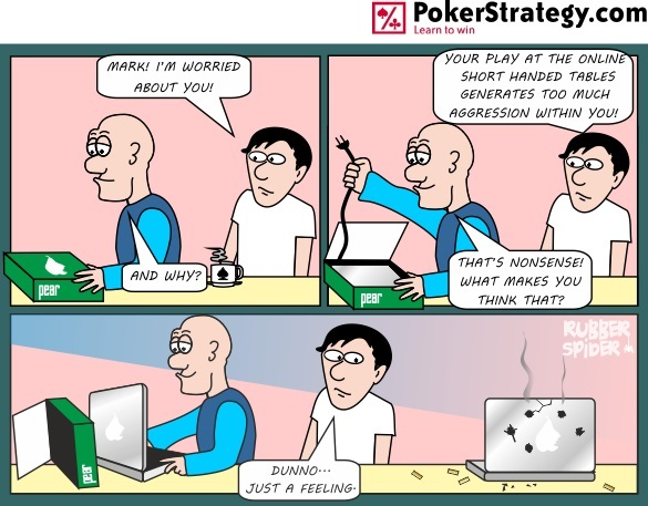 News Poker Cartoon Aggression