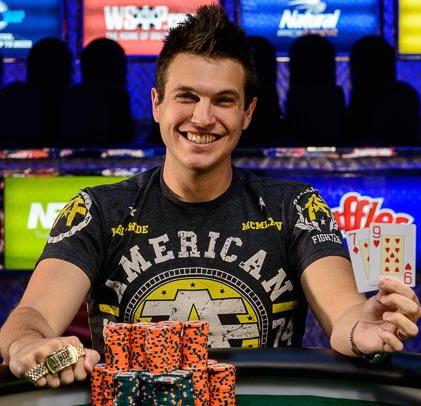 Doug Polk winning a WSOP bracelet