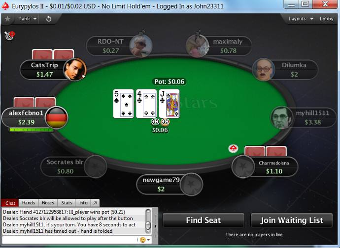 Cliente de software de PokerStars