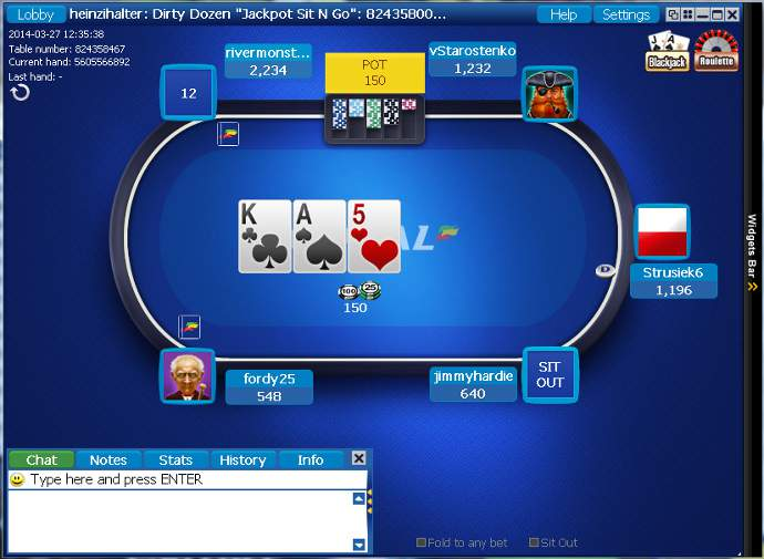 Cliente de software de Coral Poker