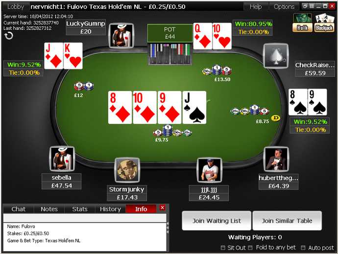 Cliente de software de Titan Poker
