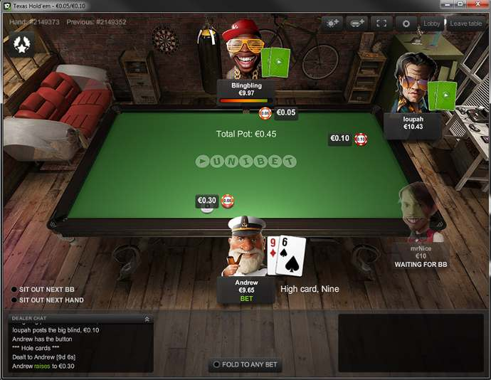Unibet Poker Software Client