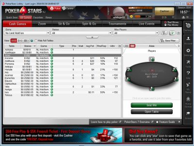PokerStars US Screenshot