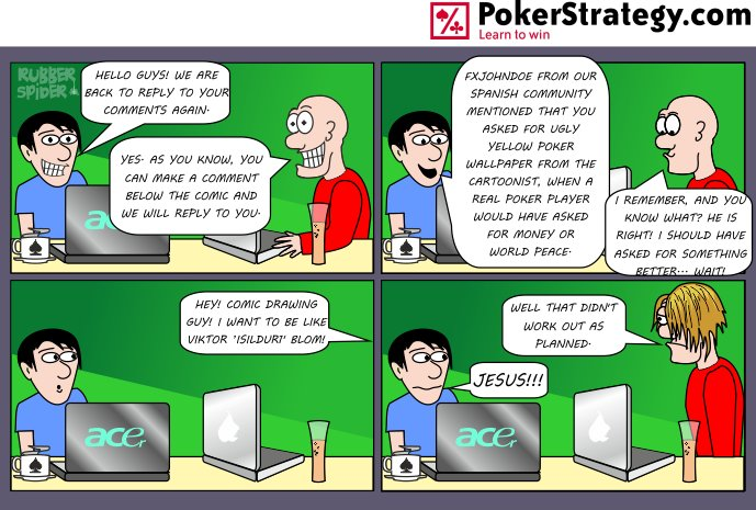 Grappige pokercartoon Blom