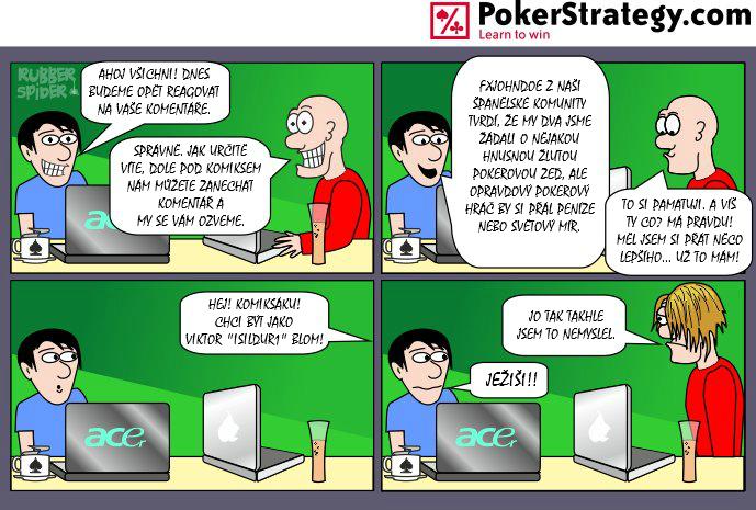 Vtipný pokerový komiks Blom