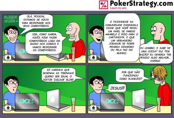 Tirinhas de poker divertidas Blom
