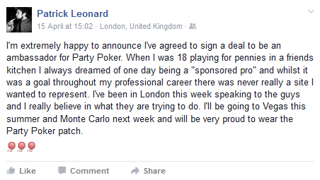 pleno1 partypoker announcement