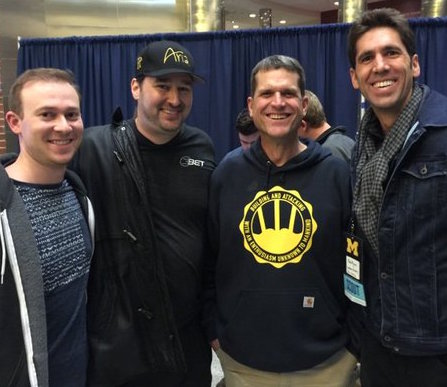 Phil Hellmuth and Jim Harbaugh