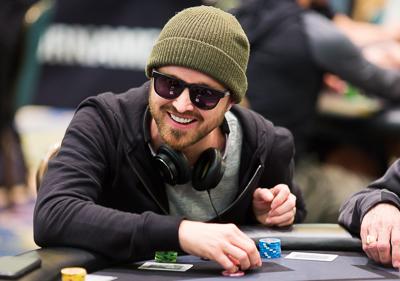 Aaron Paul playing poker