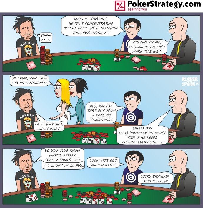 Grappige pokercartoon X Files