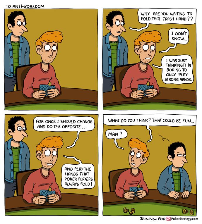 Lustige Pokercartoons Boring