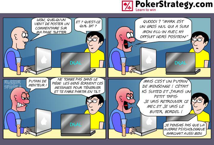 BD de poker humoristique Attaques sur Twitter
