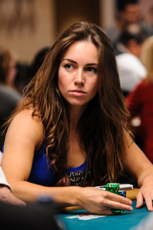 Liv Boeree playing poker