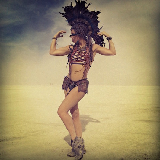 Liv Boeree at burning man