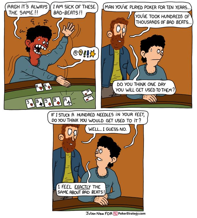 Funny Poker Cartoons Bad Beats