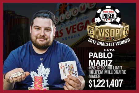 Pablo Mariz 2017 WSOP