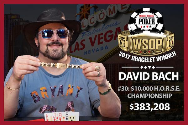 David Bach 2017 WSOP