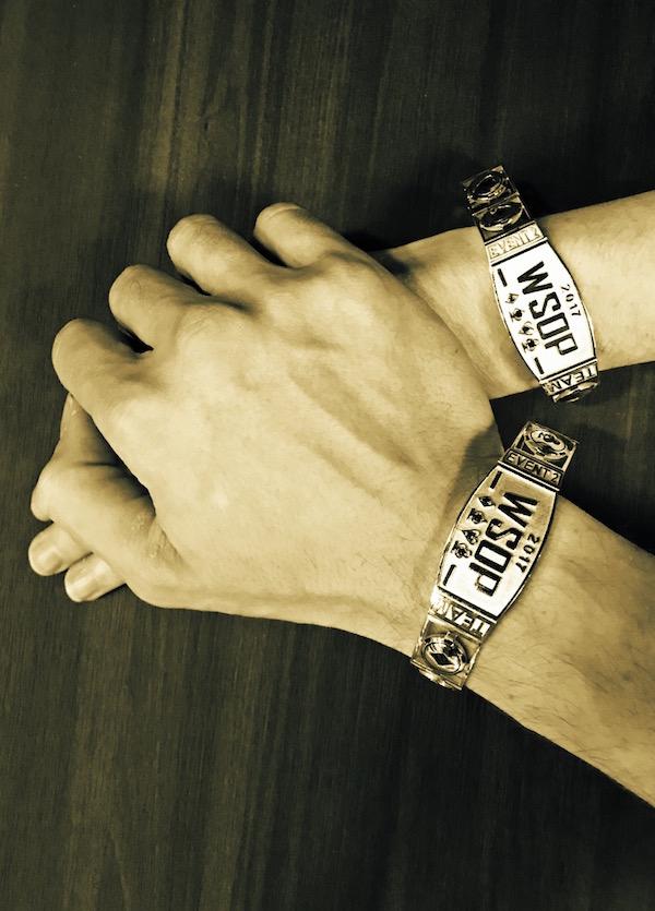 Liv Boeree and Igor Kurganov's bracelets