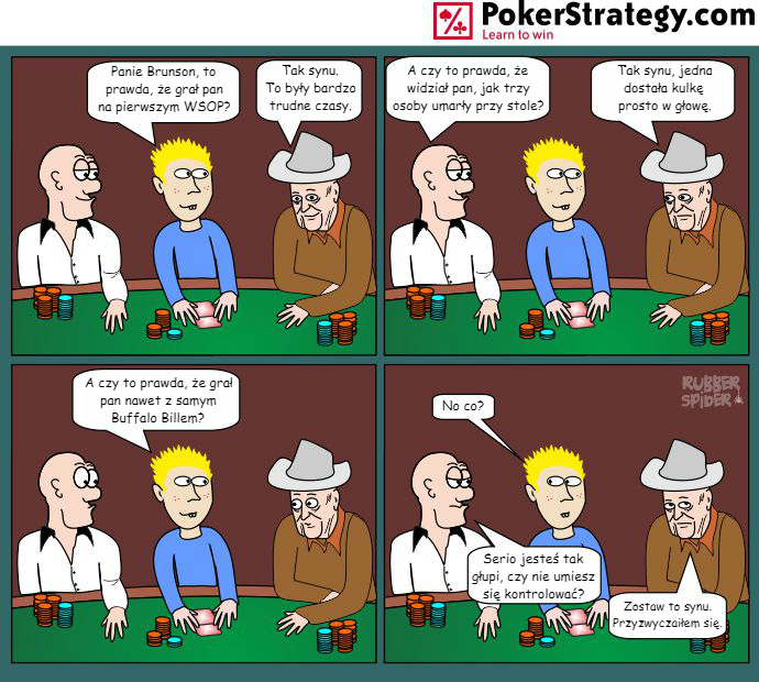 Śmieszny Pokerowy Komiks Doyle Brunson