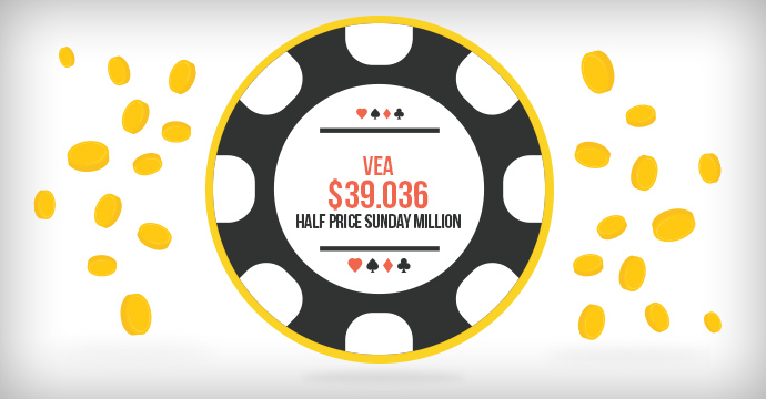 VeA выиграл $39.036 в Sunday Million!