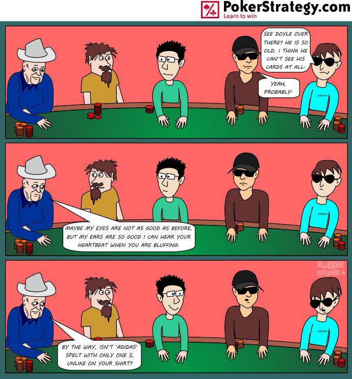 Lustige Pokercartoons Doyle Brunson