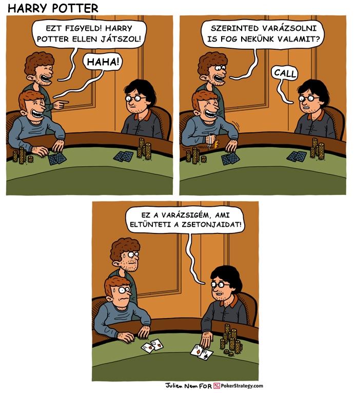 Vicces póker képregény Bűvésztrükk