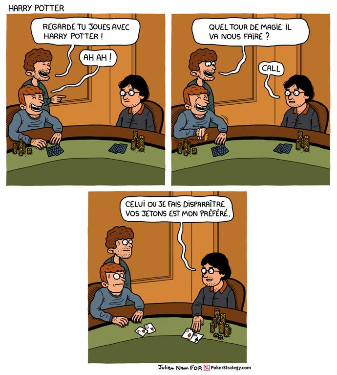 BD de poker humoristique Tour de magie