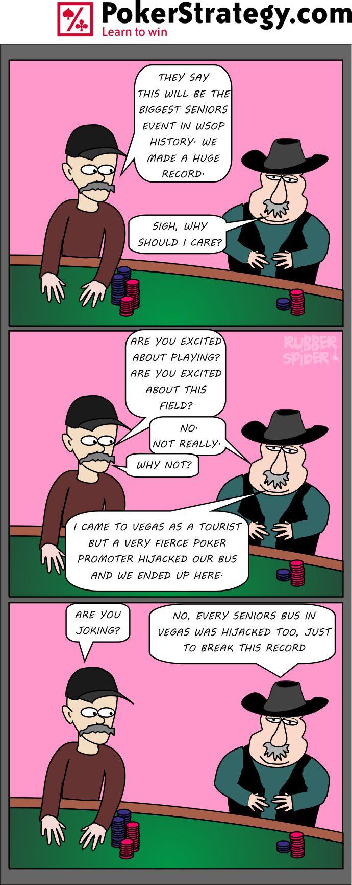 Funny Poker Cartoons WSOP