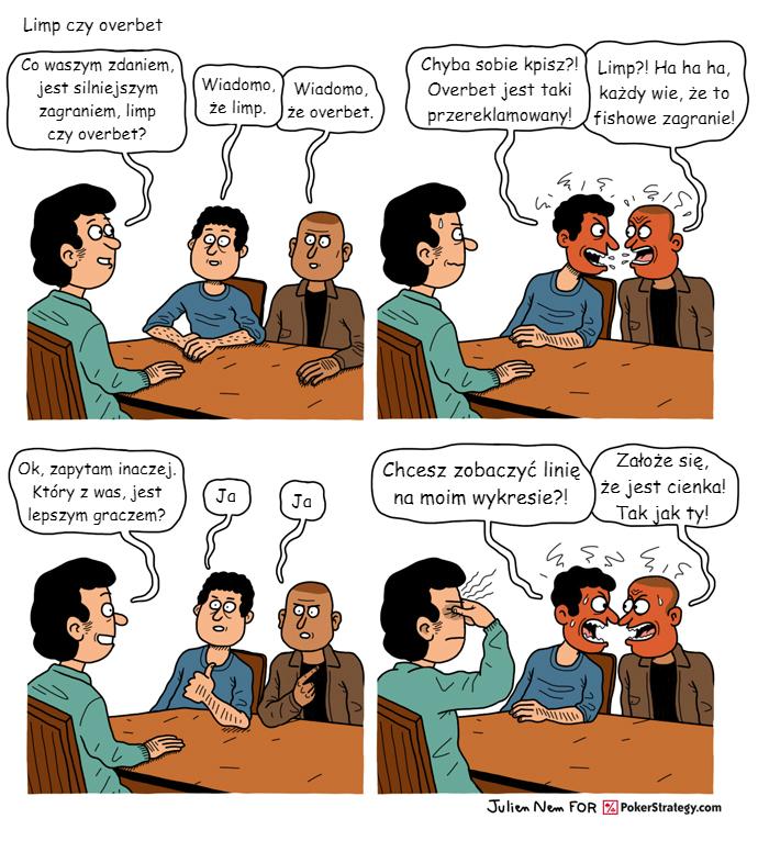 Śmieszny Pokerowy Komiks Strategia