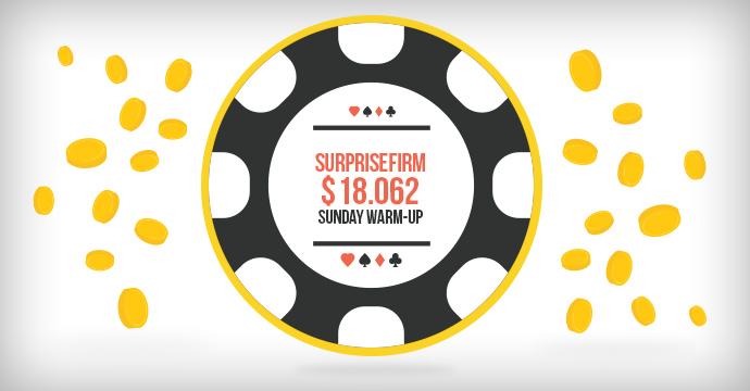 SurpriseFirm выиграл $18.062 в Sunday Warm-Up!