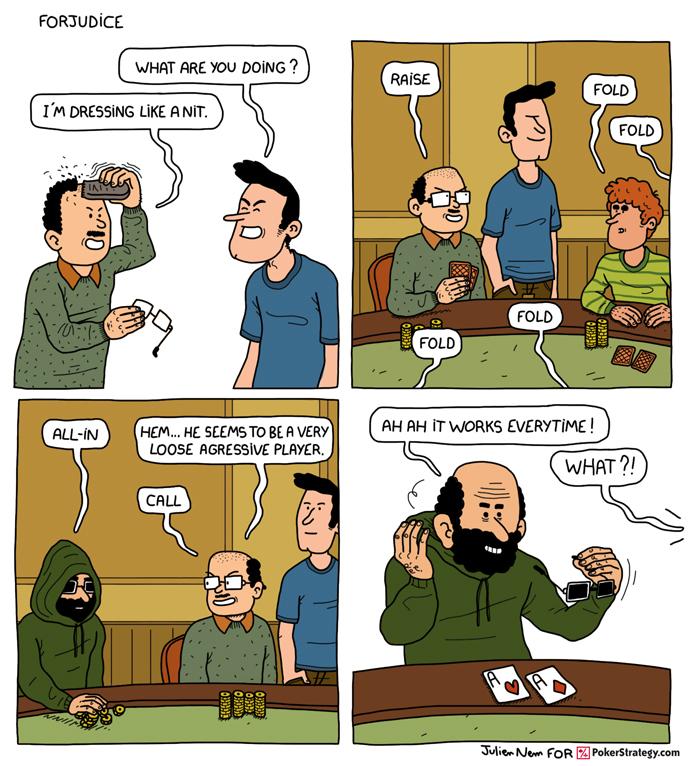 Lustige Pokercartoons Poker player
