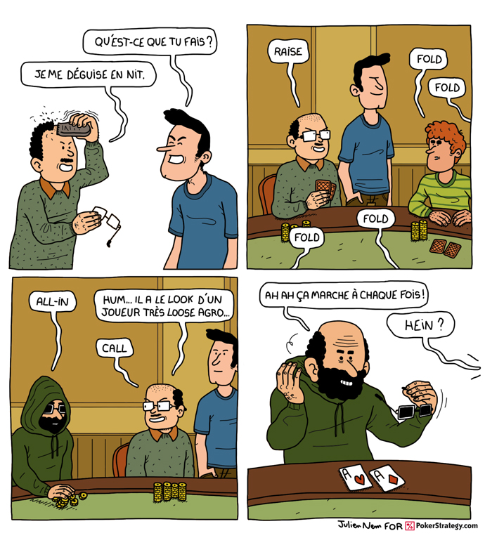 BD de poker humoristique Joueur de poker