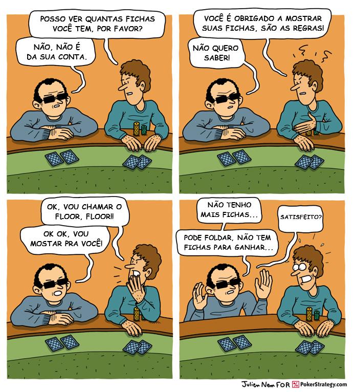 Tirinhas de poker divertidas Fichas de poker