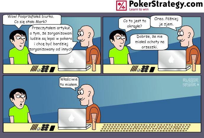 Śmieszny Pokerowy Komiks Dyscyplina