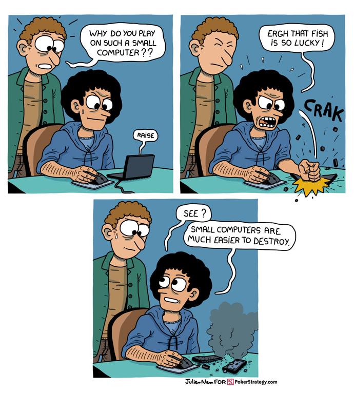 Funny Poker Cartoons Tilt