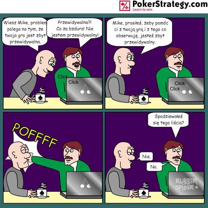 Śmieszny Pokerowy Komiks Zachowanie
