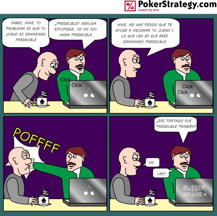 Tiras de poker divertidas Comportamiento