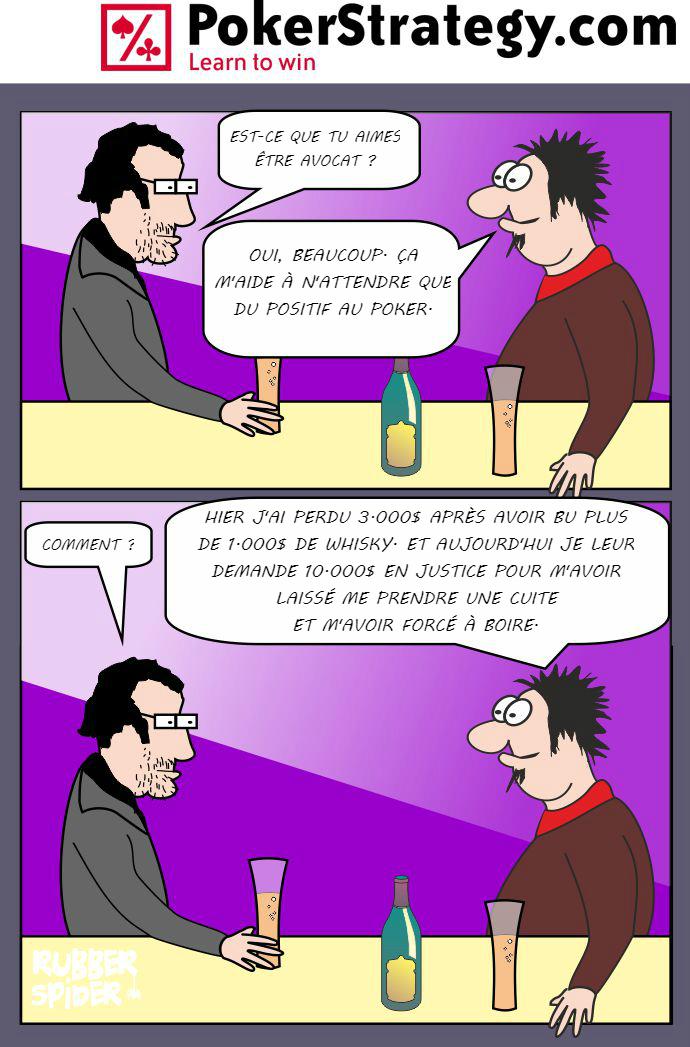 BD de poker humoristique Procès