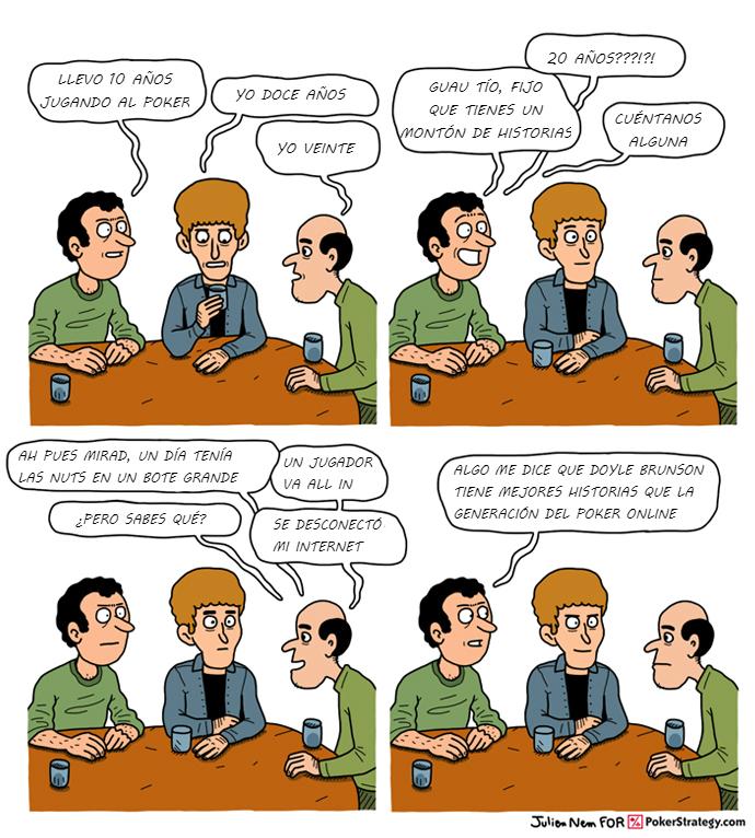 Tiras de poker divertidas Historias de poker