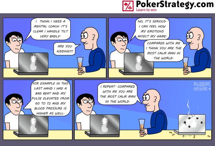Lustige Pokercartoons Rage quit