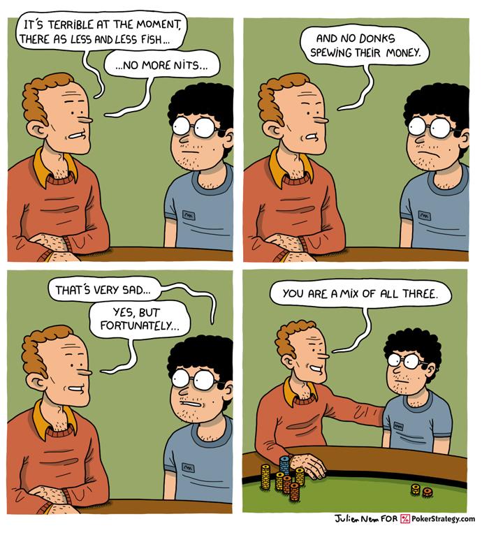 Funny Poker Cartoons Fish