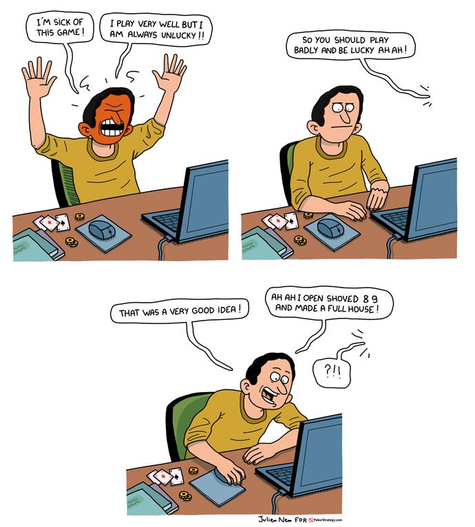 Funny Poker Cartoons Badbeats