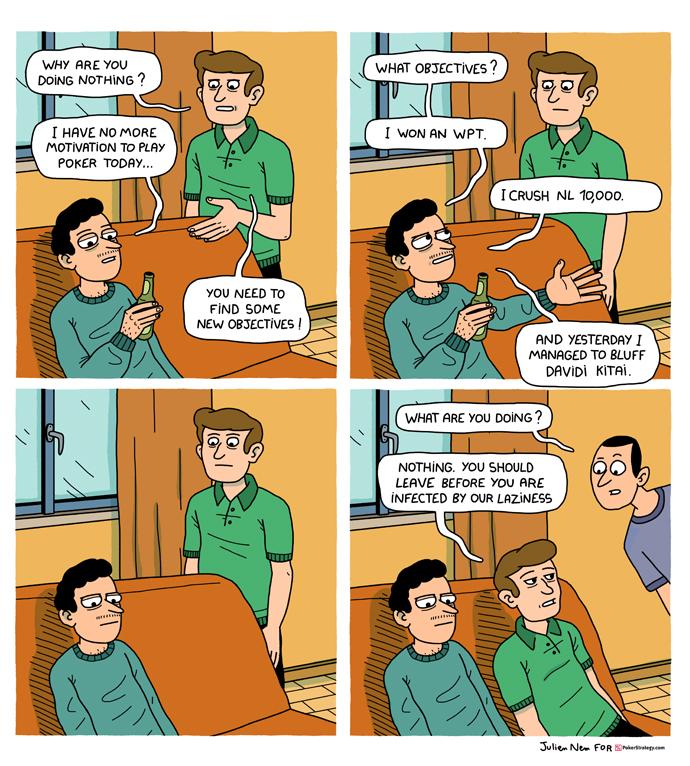 Funny Poker Cartoons Laziness